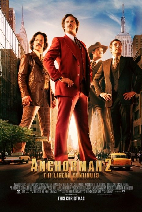 Anchorman 2: The Legend Continues [61%]