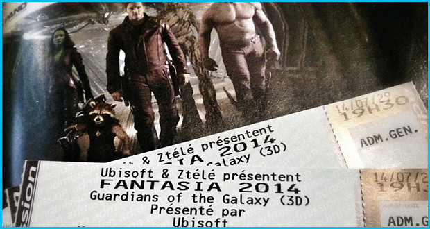 Tirage de billets pour Guardians of the Galaxy à Fantasia!